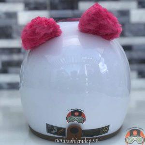 Non Bao Hiem Hinh Thu Kitty Mau Trang Tai Hong (5)